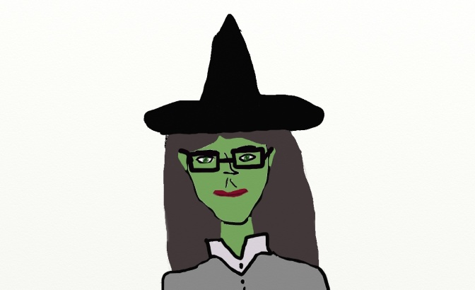 Happy Halloween from Helen the Hipster Witch