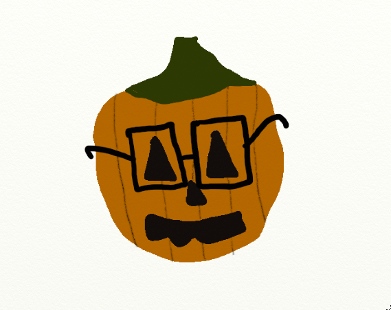 Happy Almost-Halloween from Hipster Pumpkin!